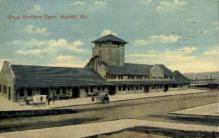 dep-WA014 - Great Northern Depot, Everett, Washington, WA, USA Railroad Train Depot Postcard Post Card