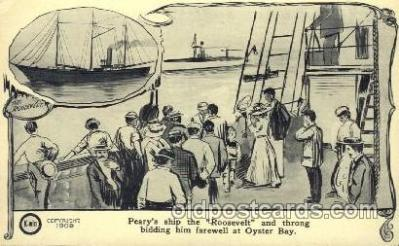 epr001007 - Peary's Ship Roosevelt, Oyster Bay Exploration Postcard Post Card
