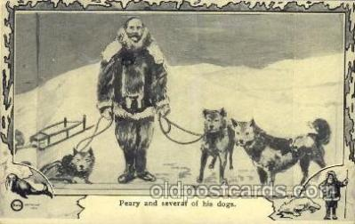 epr001015 - Peary and his dogs Exploration Postcard Post Card