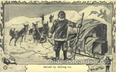 epr001018 - Halted by drifting ice Exploration Postcard Post Card