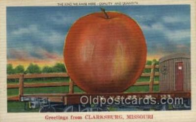 exa000202 - Clarksburg, Missouri, USA Exaggeration Old Vintage Antique Postcard Post Card