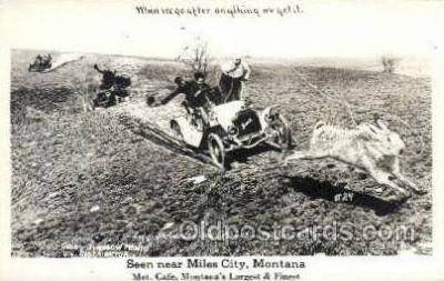 exa002084 - Miles City, Montana, USA Exaggeration Old Vintage Antique Postcard Post Card