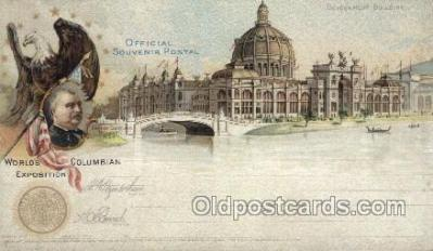 exp000003 - Government Buidling World's Columbian Expostion Old Vintage Antique Postcard Post Card