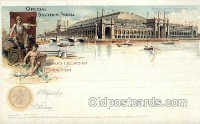exp000009 - Liberal arts World's Columbian Expostion Old Vintage Antique Postcard Post Card