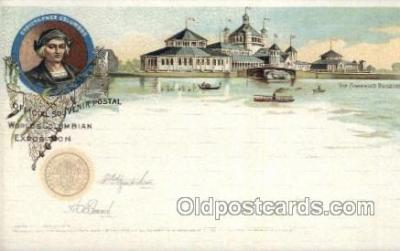 exp000013 - The fisheries building World's Columbian Expostion Old Vintage Antique Postcard Post Card