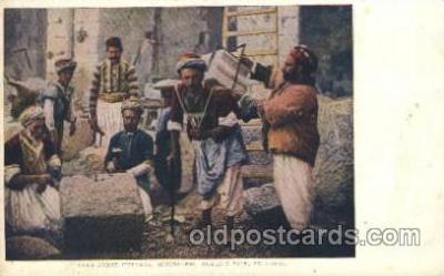exp020060 - Arab Stone Cutters, Jerusalem St. Louis Exposition 1904 Worlds Fair Postcard Post Card