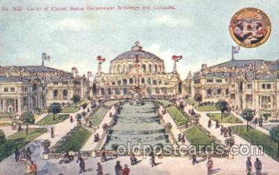 exp050095 - Group of United States Government Buildings 1909 Alaska - Yukon Pacific Exposition Seattle Washington, USA Postcard Post Card