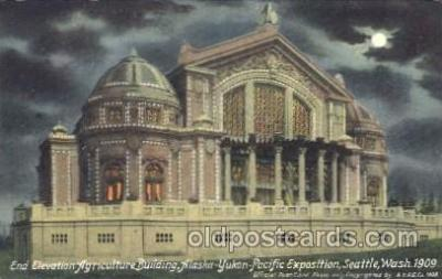 exp050116 - End Elevation, Manufacturers Building 1909 Alaska - Yukon Pacific Exposition Seattle Washington, USA Postcard Post Card