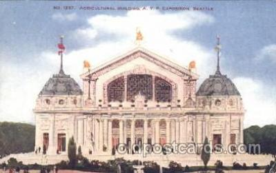 exp050183 - Agricultural Building 1909 Alaska - Yukon Pacific Exposition Seattle Washington, USA Postcard Post Card