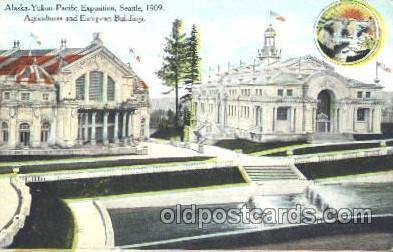 exp050199 - Agricultural Building 1909 Alaska - Yukon Pacific Exposition Seattle Washington, USA Postcard Post Card
