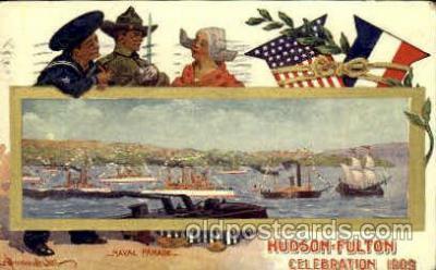 exp060078 - Naval Parade Hudson Fulton Celebration Expostion 1909 Postcard Post Card