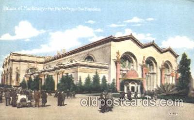 exp080200 - Palace of Machinery 1915 Panama International Exposition, San Francisco, California USA Postcard Post Card