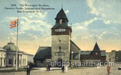 exp080250 - Norwegian Pavilion 1915 Panama International Exposition, San Francisco, California USA Postcard Post Card