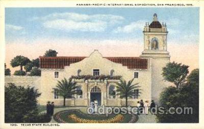 exp080273 - Texas State Building 1915 Panama International Exposition, San Francisco, California USA Postcard Post Card