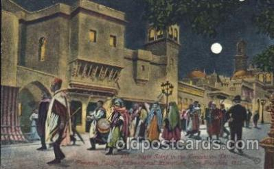 exp080276 - Concession Distrct 1915 Panama International Exposition, San Francisco, California USA Postcard Post Card