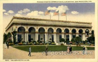 exp080390 - The service building Panama-Pacific International Exposition,  San Francisco California USA, 1915 Postcard Post Card