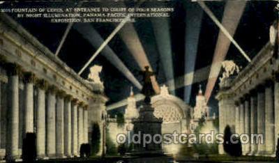 exp080406 - Court of Four Seasons Panama-Pacific International Exposition,  San Francisco California USA, 1915 Postcard Post Card