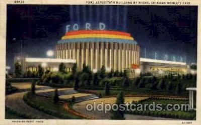 exp100085 - Ford Building, Chicago Worlds Fair Exposition 1933 - 1934, Postcard Post Card