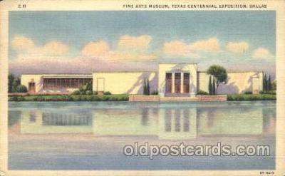 exp110030 - Fine arts museum Texas Centenial 1936 Exposition Postcard Post Card