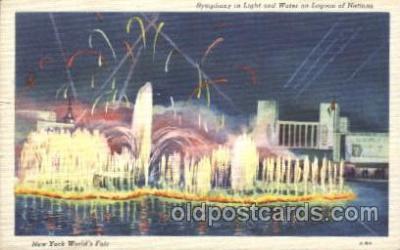 exp150219 - Lagoon of Nations 1939 New York USA, Worlds Fair Exposition, Postcard Post Card