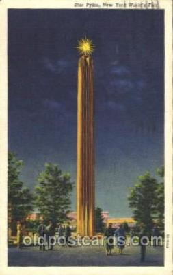 exp150323 - Star Pylon 1939 New York USA, Worlds Fair Exposition, Postcard Post Card