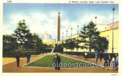 exp150330 - A Restful Garden New York 1939 Worlds Fair, Exposition, Postcard Post Card