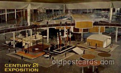 exp160015 - Seatle Washington Worlds Fair 1962, Exposition, Postcard Post Card
