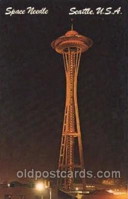 exp160074 - Space Needle Seattle Washington USA Exposition, Worlds Fair Postcard Post Card