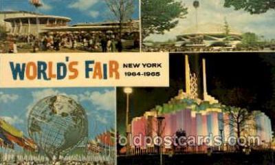 exp170042 - New York Worlds Fair, New York City, NYC Exposition, Postcard Post Card