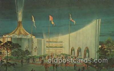 exp170045 - New York Worlds Fair, New York City, NYC Exposition, Postcard Post Card