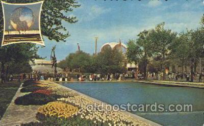 exp170080 - Pool New York, USA 1964 - 1965, Worlds Fair, Exposition, Postcard Post Card