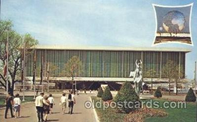 exp170097 - USA pavilion New York, USA 1964 - 1965, Worlds Fair, Exposition, Postcard Post Card