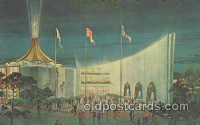 exp170106 - View of entrance New York, USA 1964 - 1965, Worlds Fair, Exposition, Postcard Post Card