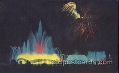 exp170121 - Fountain of Planets New York, USA 1964 - 1965, Worlds Fair, Exposition, Postcard Post Card