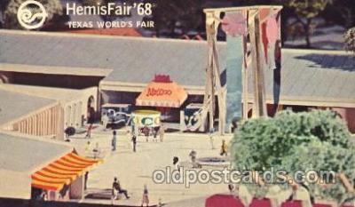 exp190005 - Hemisfair Exposition 1968, Texas, USA Worlds Fair, Postcard Post Card