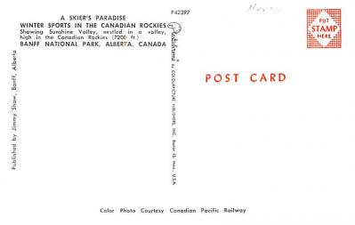 eyy0001207 - Post Card Old Vintage Antique  back