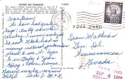 eyy0001219 - Post Card Old Vintage Antique  back