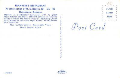 eyy0001347 - Post Card Old Vintage Antique  back