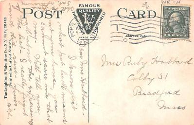 eyy0001357 - Post Card Old Vintage Antique  back