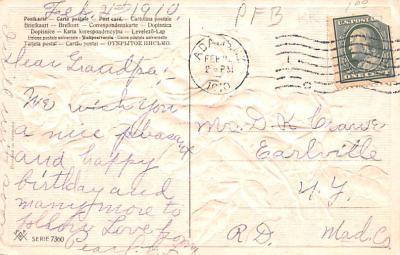 eyy000179 - Post Card Old Vintage Antique  back