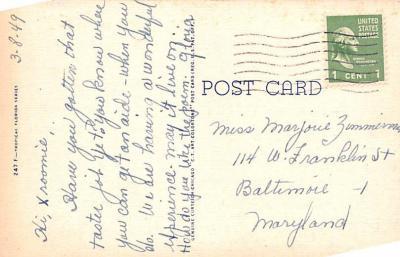 eyy0001925 - Post Card Old Vintage Antique  back