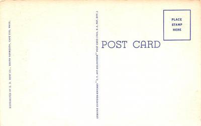 eyy000295 - Post Card Old Vintage Antique  back