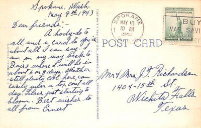 eyy000833 - Post Card Old Vintage Antique  back