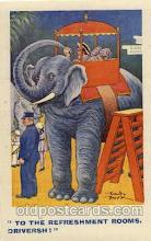 ele001065 - Artist Ricardo Brook, Elephant, Elephants, Postcard Post Card