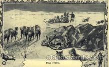 epr001024 - Dog trains Exploration Postcard Post Card