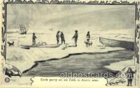 epr001025 - Cook party, Arctic seas Exploration Postcard Post Card