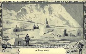 epr001034 - A Polar Camp Exploration Postcard Post Card