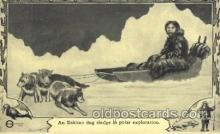 epr001039 - An Eskimo dogs sledge Exploration Postcard Post Card