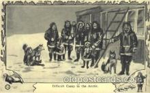 epr001047 - Difficult Camp in the Arctic Exploration Postcard Post Card