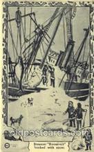 epr001049 - Steamer Roosevelt Banked with Snow Exploration Postcard Post Card